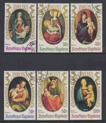 Togo - 1971, Xmas Paintings by Old Masters set - CTO - SG 855/60