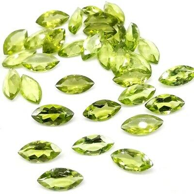 Wholesale Lot of 6x3mm Marquise Cut Natural Peridot Loose Calibrated Gemstone