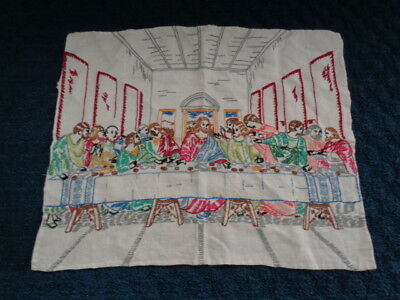 "Vintage ""the Last Supper "" Embroidered Piece"