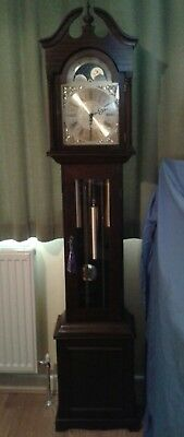 Grandmother Clock 3 Weight Moonphase Westminster Chimes Hermle Movement