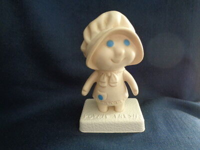 """Vintage 1972 Pillsbury Dough Girl """"poppie Fresh"""" Squeezable Figure With Stand"""