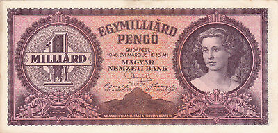 1 Milliard Pengo From Hungary 1946 Vf+ Banknote!pick-125