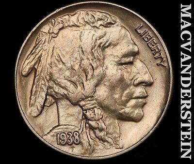 1938-D Buffalo Nickel-Choice Gem Brilliant Uncirculated!! #z8514