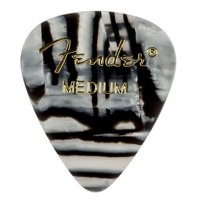 Fender 351 Shape Graphic Electric Acoustic Guitar Picks 12-Pack Zebra Medium