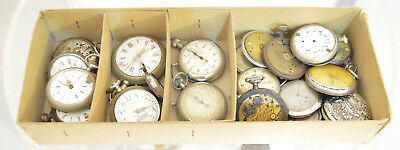 Big Lot Antique Vintage Pocket watches 4 spares repair Watchmakers Watch parts