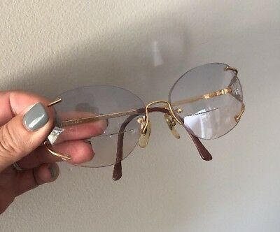 Vintage 80s Christian Dior Rimless Women's Perscription Eye Glasses 2591