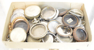 Big Lot Antique Vintage Pocket watch cases Watchmakers Watch parts