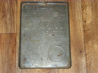 Vintage PY-O-My Pastry Mix Metal Advertising Promotional Tray,