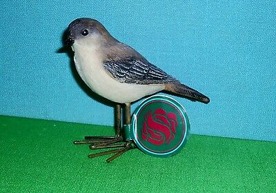 Warbler Bird Figure with Metal Legs by Sullivan's New with Tag Retired Line