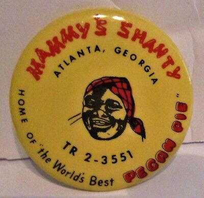 Antique Mammy's Shanty Advertising Pocket Mirror Black Americana Atlanta Ga Vgc
