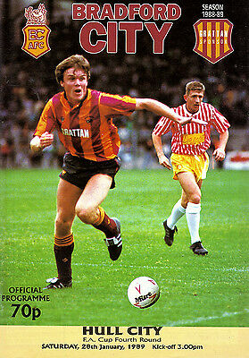Bradford City v Hull City 1988/89 FA Cup 4th round