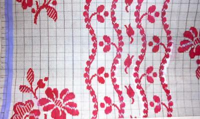 Beautiful Antique Hand Painted French Fabric Design Cartoon 1924