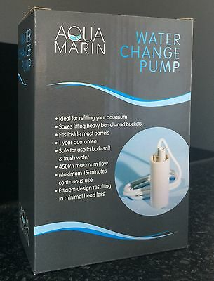 New Aqua Marin Water Change Pump - Refilling Fish Aquarium Easy Salt/ Freshwater