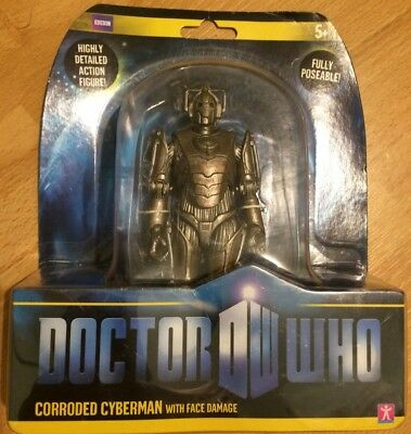 Doctor Dr Who Cyberman Corroded Face damage Figure MOC!