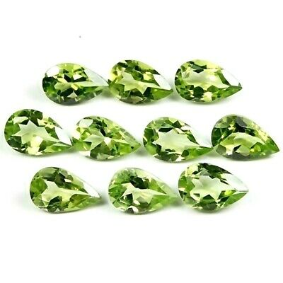 Wholesale Lot of 9x6mm Pear Facet Cut Natural Peridot Loose Calibrated Gemstone