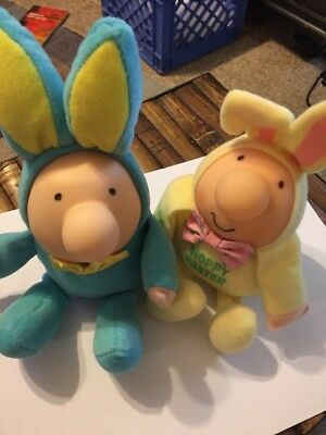 Ziggy Hoppy and Blue Easter 4.5 to 5 in sitting Two in lot