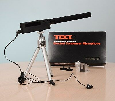 TECT Electret Condenser Microphone Sound Locating Mikrofon UEM-88 + Stativ + OVP