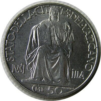 elf Vatican City 50 Centesimi 1942 Pius XII  World War II