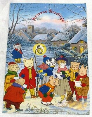Rupert Bear Seasons Greeting Card With Bt Phone Card, Mint Condition
