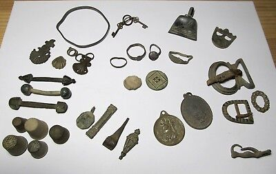 lot Ancient antique Bronze/Silver Artifacts Roman-Medieval- Contempora 2-19th. C