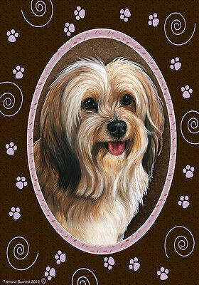 Garden Indoor/Outdoor Paws Flag - Sable Tibetan Terrier 174801