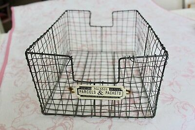 Large vintage metal storage tray / basket - lovely piece in excellent condition