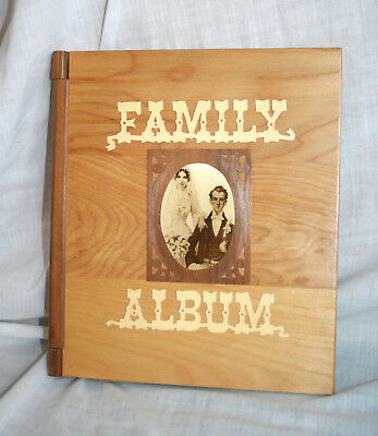 Vintage Solid Wood Family Album Photos Photographs NOS Unused