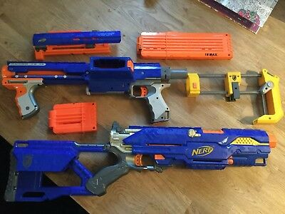 NERF Raider CS - 35 & Long Strike CS - 6 & Vulcan EBF - 25.