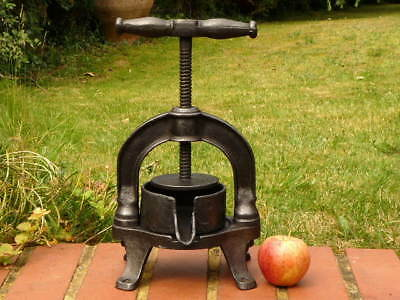French Antique Cast Iron Table Top Fruit Press