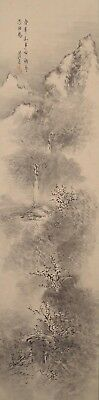 #0042 Japanese Hanging Scroll: Mountain Landscape