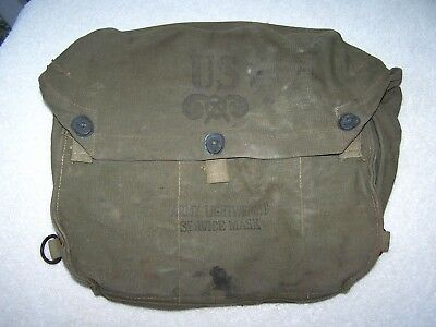 WWII WW 2 US Army M6 Gas Mask Carry Bag Lightweight Service Canvas -