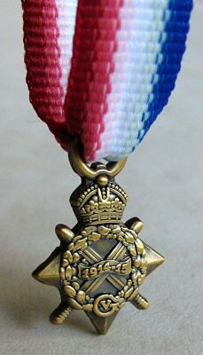 U.K British Armed Forces &  Commonwealth 1914 - 1915 Star Mini Medal WWI WW1