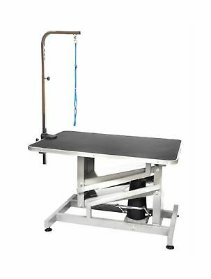 Go Pet Club Grooming Professional Table Z Lift Hydraulic w/ Arm 36 in Black New
