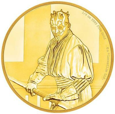 Niue Islands 25 14 Oz Gold Darth Maul Star Wars 2018 Proof