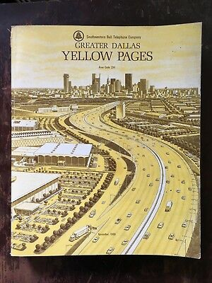 1968 Greater Dallas Texas Sw Bell Yellow Pages Telephone Directory