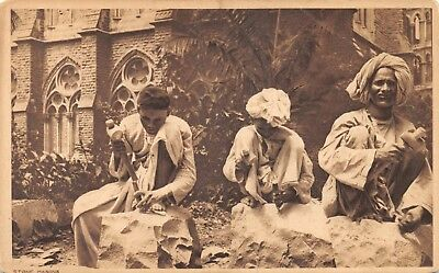 India Ethnic Stone Masons Native Men Working With Mallets Printed Card