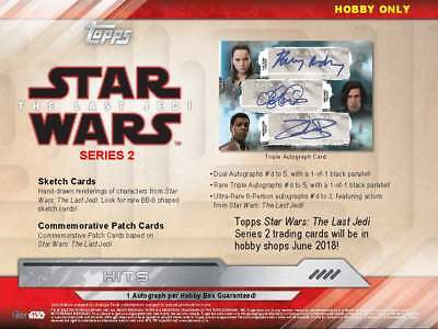 2018 Topps Star Wars The Last Jedi Series 2 (06/20) Sealed Hobby Box 2 Hits!