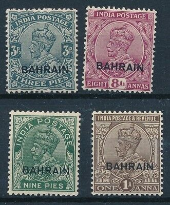 [56343] Bahrain 1933-36 lot 4 good MH Very Fine stamps