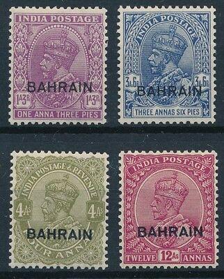 [56344] Bahrain 1933-36 lot 4 good MH Very Fine stamps