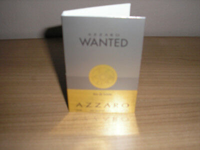 AZZARO WANTED, AZZARO  -EAU DE TOILETTE, PARFUM PROBE , 1,2ml, NEU