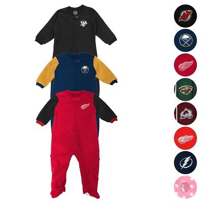 8cbbdfcc5d42a NHL Full Zip Front Team Color Blanket Sleeper Coverall Infant (0-24 Months)