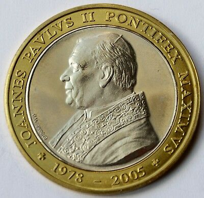 Vatican, Commemorative medal 2005, Pope John Paul II 1978 - 2005