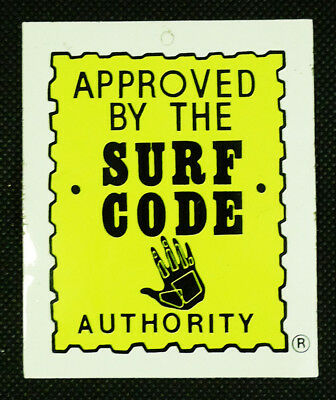 Vintage Body Glove Surf Code Clothing Hang Tag Promotional Sticker