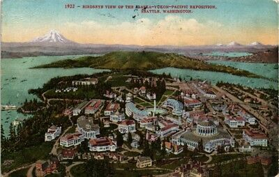 Dr Jim Stamps Us Alaska Yukon Pacific Exposition Seattle Aerial View Postcard