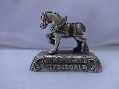 MINI Pewter Clydesdale Horse Animal Figurine - Colonial Pewter Corp. Hyannis, MA