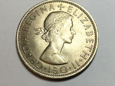 GREAT BRITAIN 1961 2 Shilling coin uncirculated
