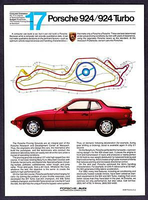 """1982 Porsche 924/924 Turbo Coupe photo """"Weissach Proving Grounds"""" print ad"""