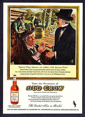 1959 Senator Henry Clay James Crow Old Crow Bourbon Ad