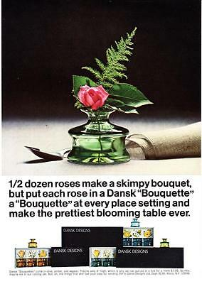 "1967 Dansk Bouquette Mini Vase photo ""Makes a Pretty Blooming Table"" print ad"