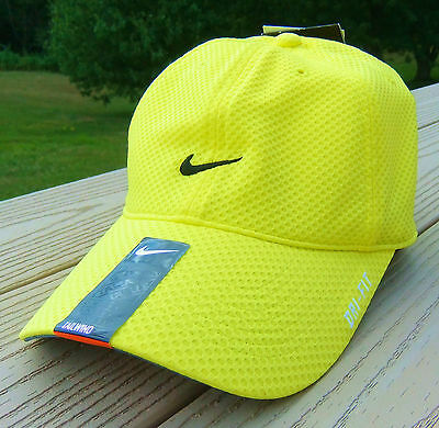 6231f00f72 NWT NIKE Dri-Fit Tailwind Adult Running Tennis Adj Hat-OSFM BRIGHT YELLOW